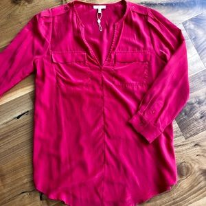 Joie red Marlo silk tunic top